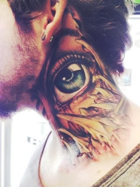 татуировки шея (4)