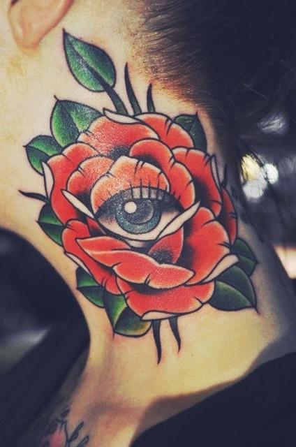 татуировки шея (2)