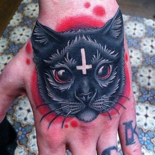 татуировки кот руки (5)