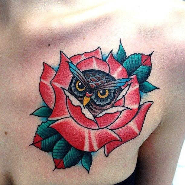 татуировки сова (9)