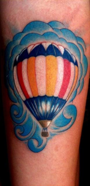Тату воздушный шар (8)