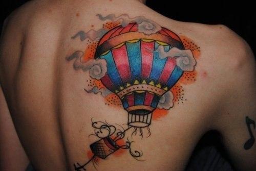 Тату воздушный шар (5)