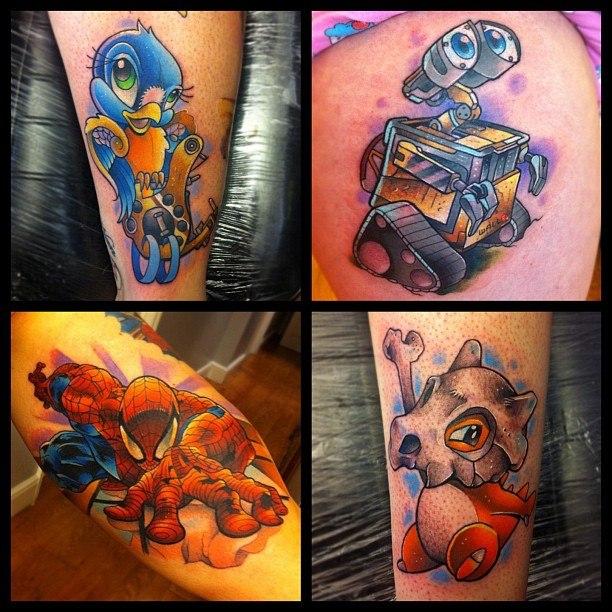 мультфильмы татуировки