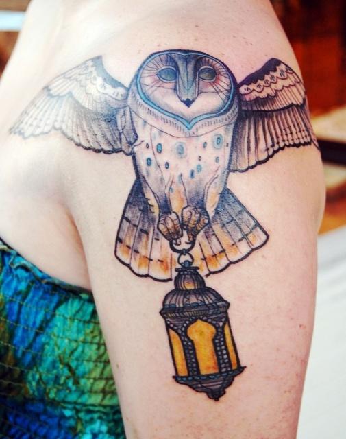 татуировки сова (6)