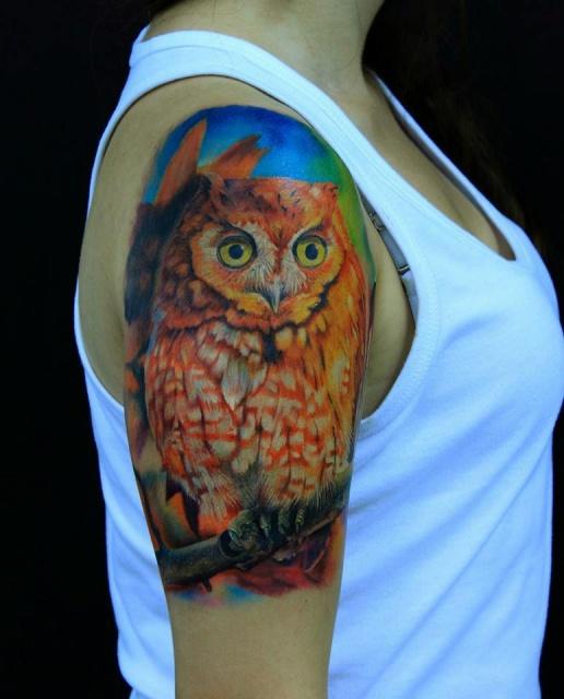 Татуировки сова 5