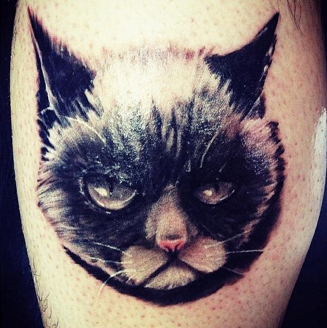 грустный кот татуировка (1)