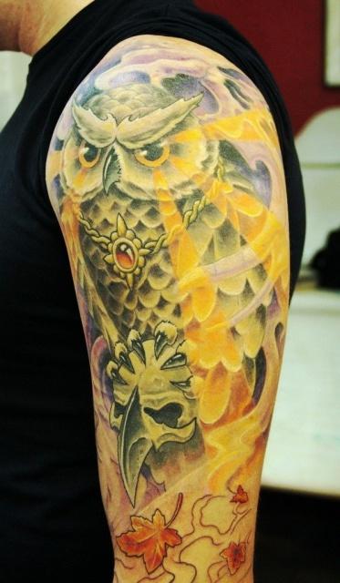 татуировки сова (3)