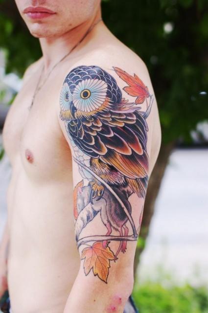татуировки сова (2)