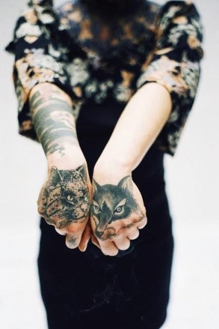 татуировки кот руки (2)