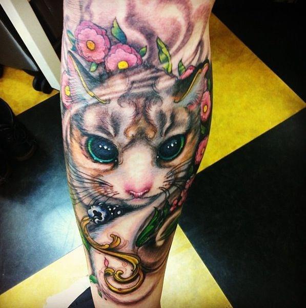 татуировки кот руки (1)