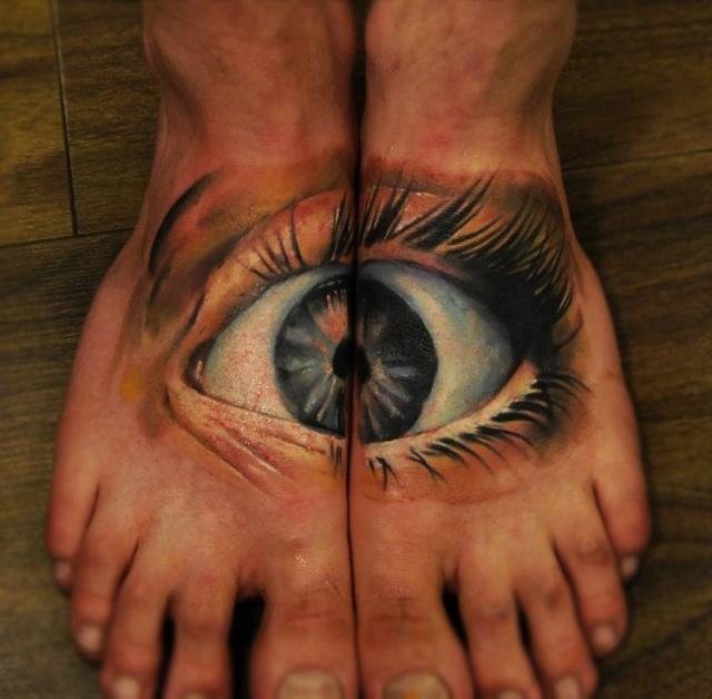 парная татуировка ноги