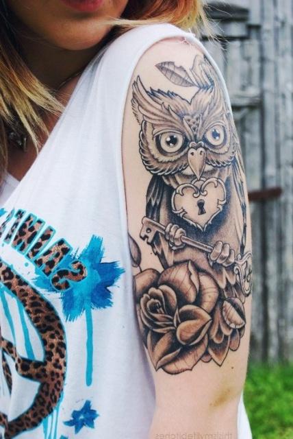 татуировки сова (8)