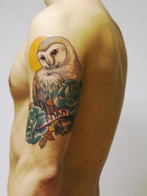 татуировки сова (7)