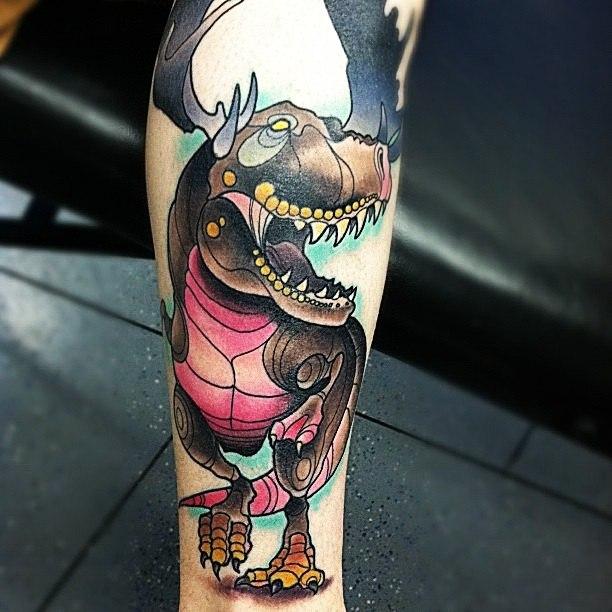 татуировки динозавры (5)
