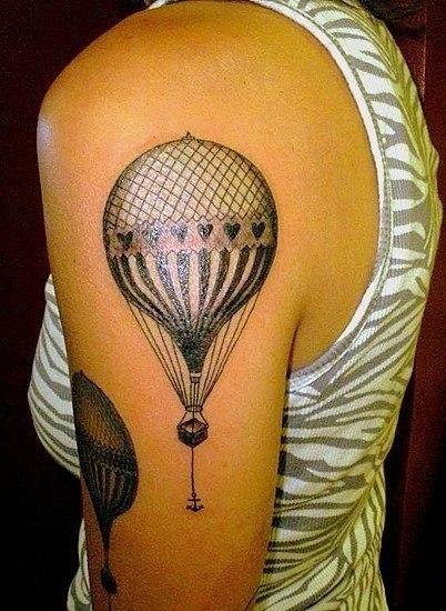 Тату воздушный шар (2)