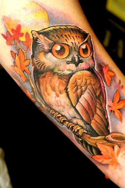 татуировка сова (5)