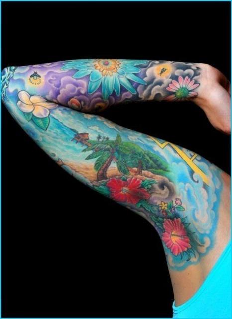 татуировки цветы (4)