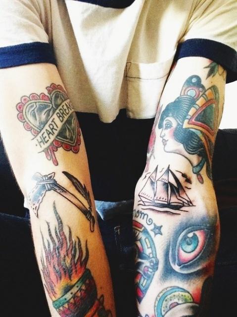 рукава татуировки (5)