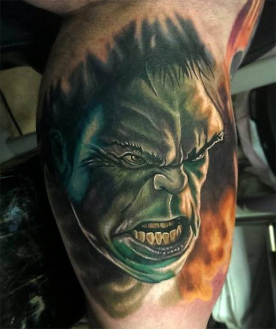 халк татуировка