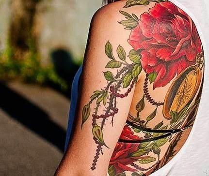 татуировки цветы (2)