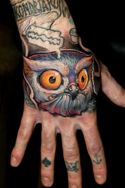 татуировка сова (2)