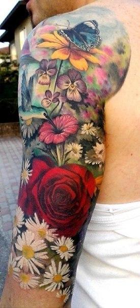 татуировки цветы (3)
