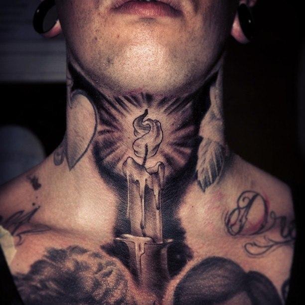 Татуировка шея