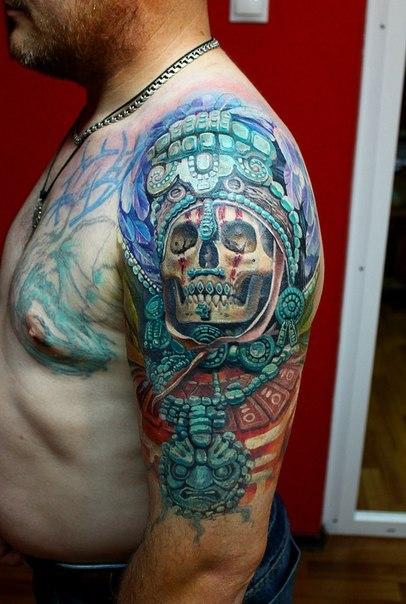 череп татуировка рука