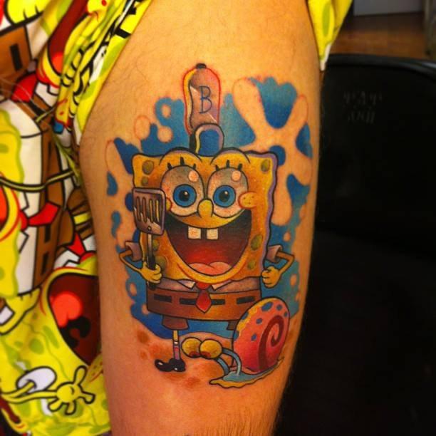 Губка Боб татуировка