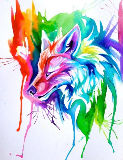 Цветные эскизы лиса (4)