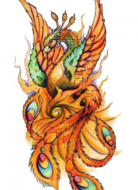 Эскизы феникса (2)