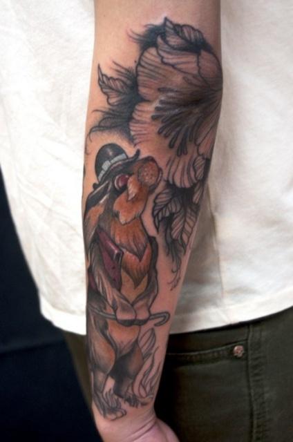 Татуировки от локтя до кисти мужские