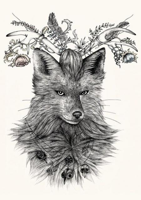 эскизы татуировок животных (4)