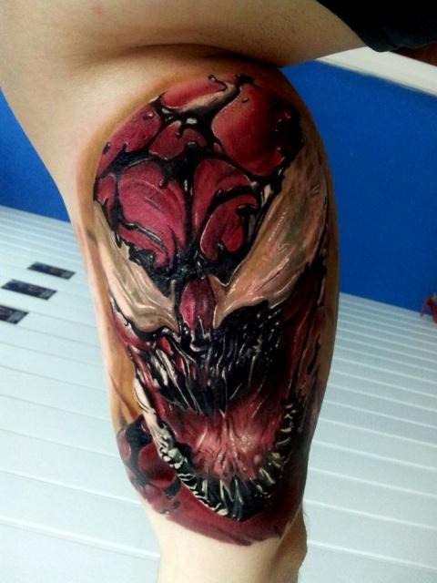 Татуировка Венома комикс