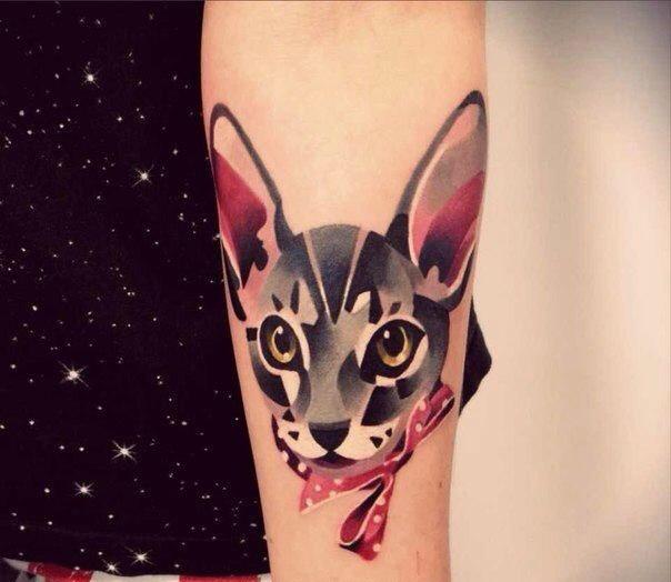Татуировки на запястье кот