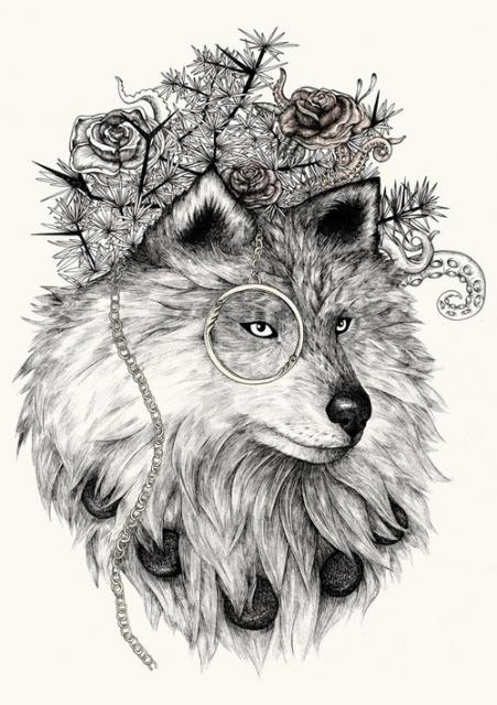 эскизы татуировок животных (3)