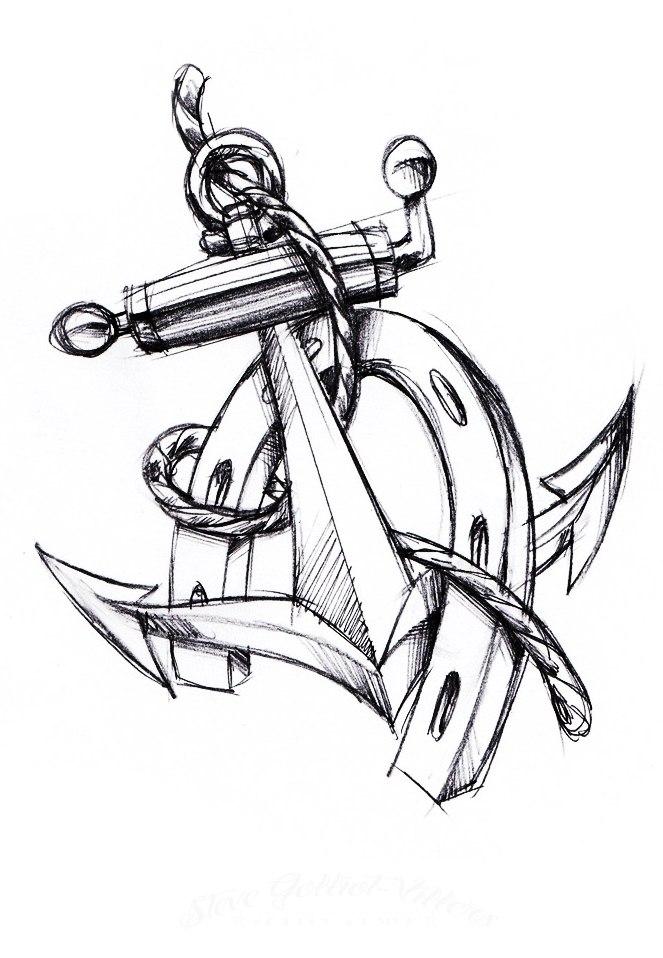 татуировки в виде якоря (6)