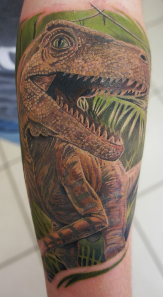 фото татуировка динозавра