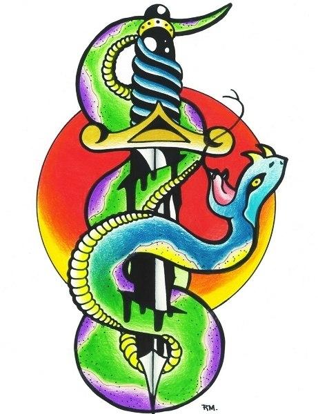 Татуировки с кинжалом (6)