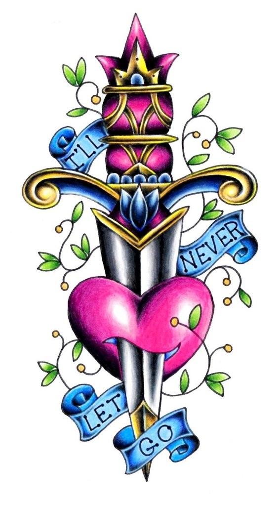 Татуировки с кинжалом (5)