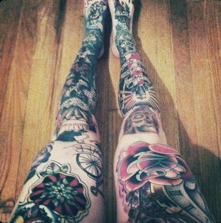 татуровки на жетских ногах (7)