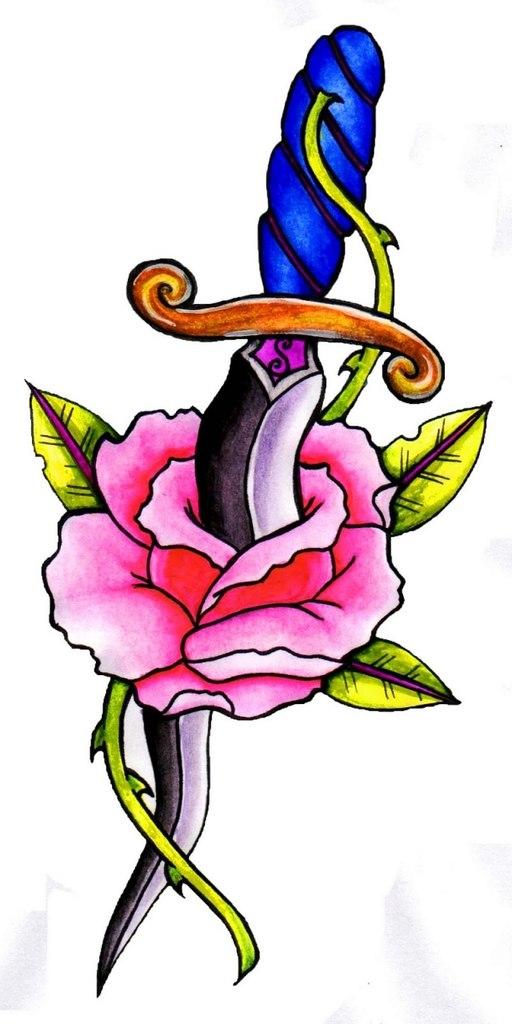 Татуировки с кинжалом (3)