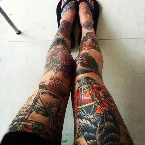 татуровки на жетских ногах (3)