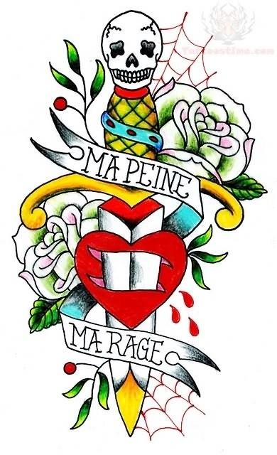 Татуировки с кинжалом (1)