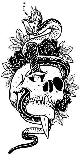 значение татуировок череп (3)