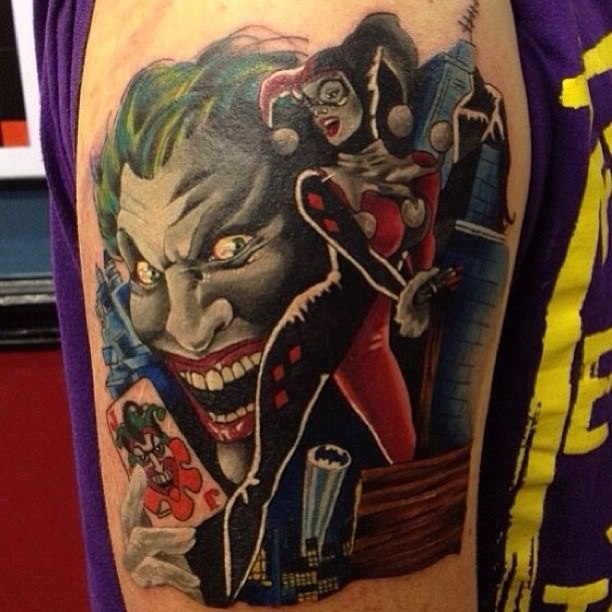 фото татуировки Джокер и Харли Квинн