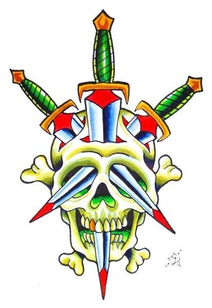 Татуировки с кинжалом (4)