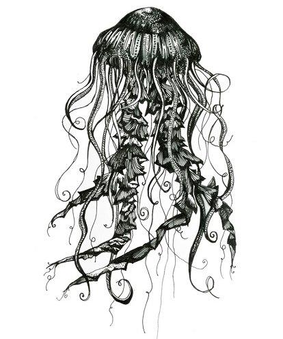 эскизы медузы (5)