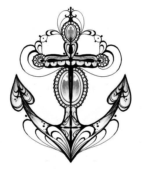 татуировки в виде якоря (3)