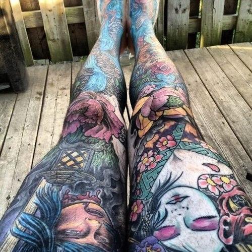 татуровки на жетских ногах (5)